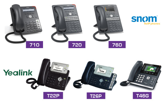 Snom and Yealink VoIP Phones