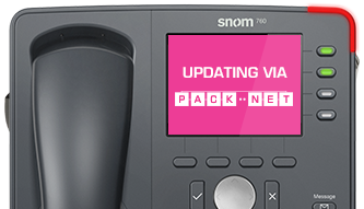 snom 760 being upgraded over the internet