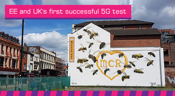 EE and UK's first successful 5G test
