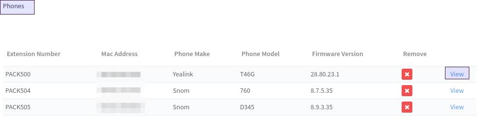 Viewing MAC settings