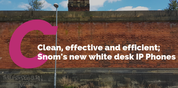 Clean, effective and efficient; Snom's new white desk IP Phones